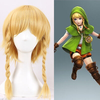Zelda Hyrule Warriors Linkle Cosplay Costume Kostüme Perücke wig game Neu