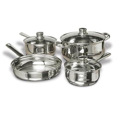 CONCORD 7 PCS Stainless Steel Cookware Set. Pots Pans Dutch