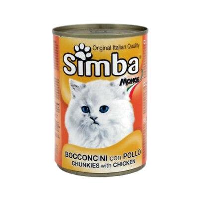 Simba Pack 10 Latas de 415g con Pollo para Gatos Comida Húmeda