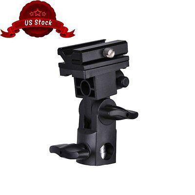 Flash Hot Shoe Adapter Trigger Umbrella Holder Swivel Light Stand Bracket B Type