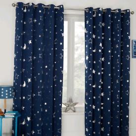 Star Galaxy Blackout Children's Curtains