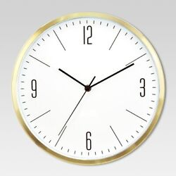 PROJECT 62 Round Wall Clock | White/Brass | 6 |