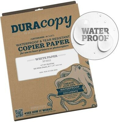 Rite In The Rain 6511 Waterproof Duracopy Copier Paper 8.5 X 11 - 100 Sheets