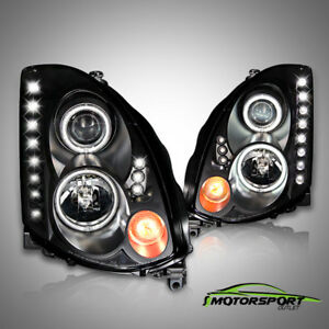 [CCFL Halo]For 2003-2007 Infiniti G35 Coupe LED Projector Black Headlights Pair
