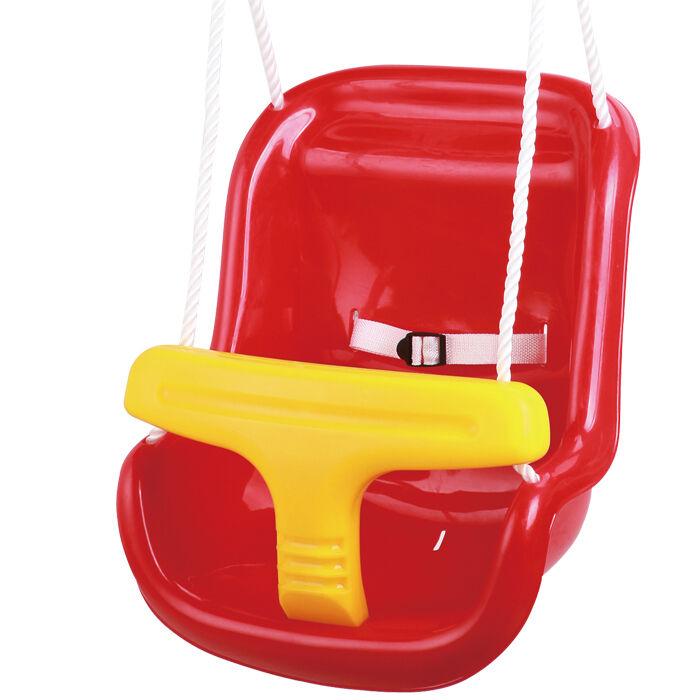 Outdoor baby swing adjustable rope red garden toddler for Baby garden swing amazon