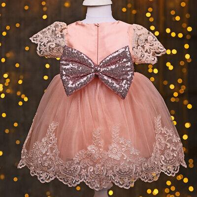 Taufkleid Festkleid Mädchen Rosa Lila 4-Teile Spitze Schuhe 62 Hochzeit Taufe 62