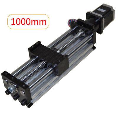 New Ball Screw Linear Cnc Slide Stroke 1000mm Long Stage Actuator Stepper Motor