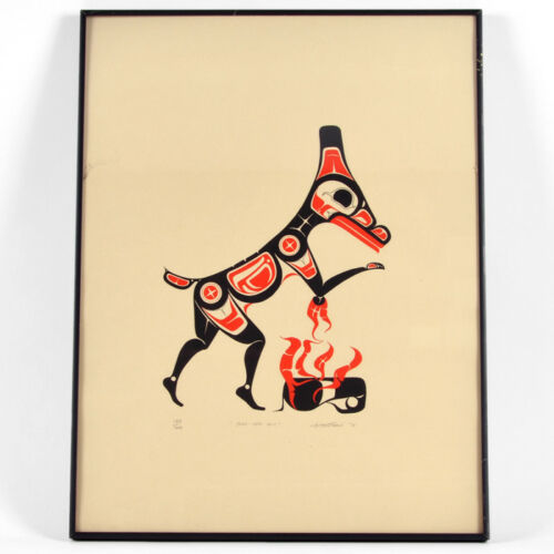 Art Thompson 1975 Native Deer Silkscreen Print Numbered