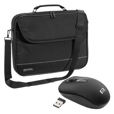 NOTEBOOK Laptop TASCHE 15 Zoll 15,6 Notebooktasche Schutz Case + schnurlose Maus