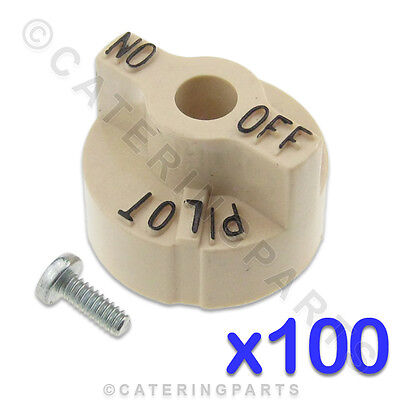 100 X Robertshaw Fryer Gas Valve Control Knobs Henny Penny Imperial Pitco Fryers