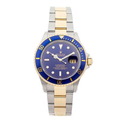 Rolex Submariner Auto 40mm Steel Yellow Gold Mens Bracelet Watch Date 16613