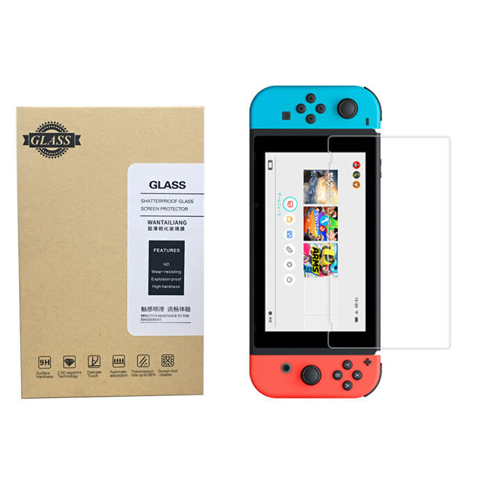 Nintendo Switch Screen Protector Tempered Glass 9H 2.5D Prem