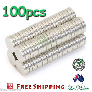 Lot 100 Pcs Strong Magnet D 10 x 2 mm Disc Cylinder Neodymium Rare Earth AU