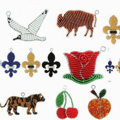 (Beadworx Grass Roots Beaded Keychains Keyrings, Handcrafted with Premium Beads )