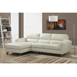 Contemporary Bonded LEATHER SECTIONAL/L-SHAPED Sofa