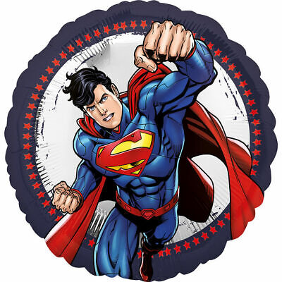 Folienballon Superman Ø 43 cm, Geschenkballon Superheld Partydekoration