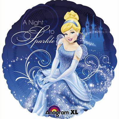 Folienballon Cinderella Night To Sparkle 45 cm Heliumballon Luftballon   ()