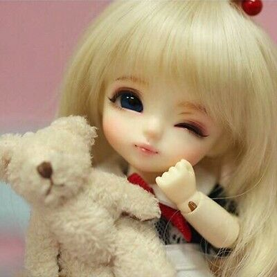 1//12 BJD sd pet doll puppy-dom Eyes doggie small pet dog NO Make up White Skin