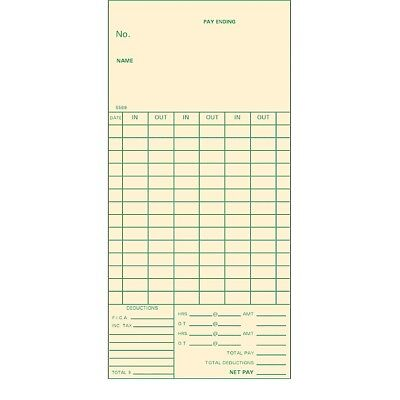 14-day Bi-weekly Time Cards 3-38 Width For Acroprint Amano Simplex 1000 Ct