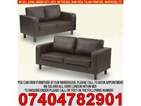 BRAND NEW 3, 2, 1 Leather Sofa Suite, from £199