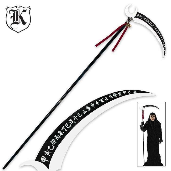 "80"" Tall Okami Kakushi Anime Cosplay Scythe Blade Grim Reaper Costume Steel"