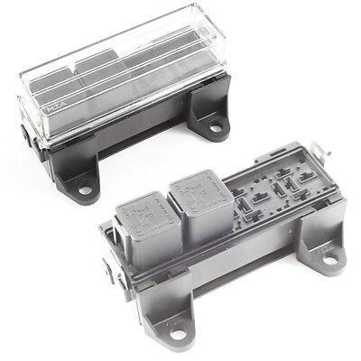 Relay Box 4 Way for Standard Relays Holder / Block 12v / 24v Car HGV 4 Pin 5 Pin