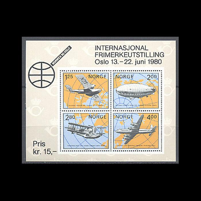 Norway, Sc #753, MNH, 1979, S/S, Aircraft, Amphibian, Aviation, AR5HDD3