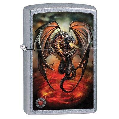 """Zippo """"Anne Stokes-Dragon"""" Street Chrome Finish Lighter, Full Size, 29349"""
