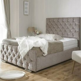 Diamond Double Bed Frame - WITH FREE DELIVERY *QUALITY*