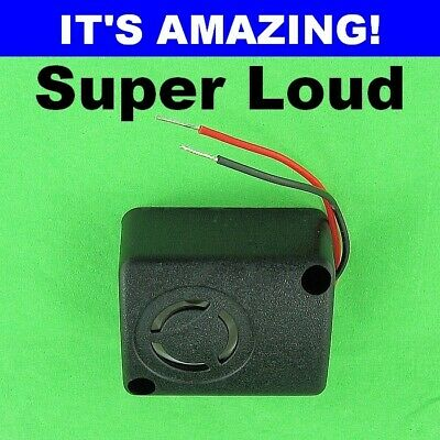 Best LOUD Mini Alarm Piezo Siren 108db Its Unbelievable 12 Volt DC 6V 9V 12V