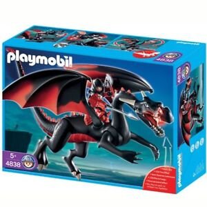 Dragon Playmobil et chevaliers du Dragon rouge