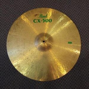 "Pearl Cymbale Ride 20"" brass/laiton - used/usagée"