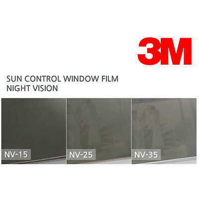 3M Night Vision Sun Control Window Films NV-15 NV-25 NV-35 60in X 49ft