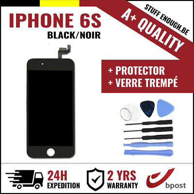 A+ LCD TOUCH DISPLAY SCHERM ÉCRAN BLACK NOIR & VERRE TREMPÉ +TOOLS FOR IPHONE 6S