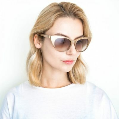 No. 21 x Linda Farrow Extreme Cat Eye Acetate Sunglasses $285