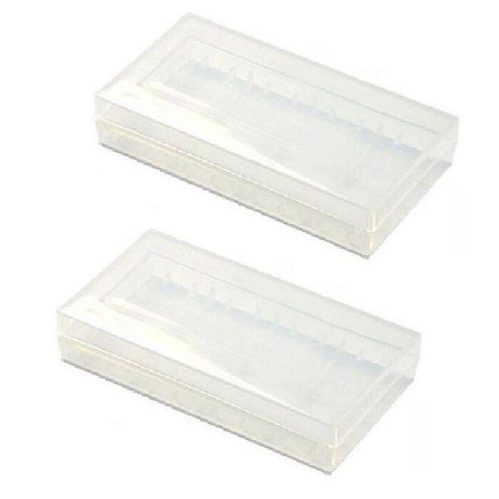 2pcs Hard PLASTIC STORAGE CASE HOLDER BOX For 18650 16340 CR 123A BATTERY