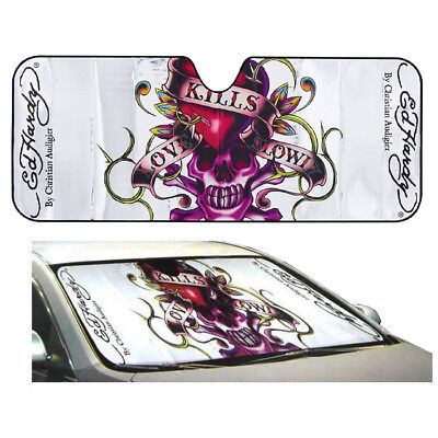 Ed Hardy Love Kill Slowly Car Truck Front Window Windshield SunShade Standard Sz