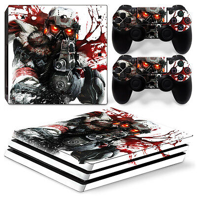 Sony PS4 PlayStation 4 Pro Skin Sticker Screen Protector Set - Soldier 3 Motif