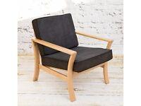 Vintage DANISH Armchair Design Midcentury Loft Modern REUPHOLSTERED