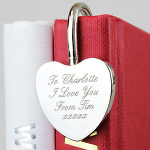 PERSONALISED-ENGRAVED-HEART-BOOKMARK-Birthday-Christmas-Valentines-gift-idea