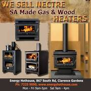 NECTRE GAS & WOOD HEATERS - MADE IN SA Clarence Gardens Mitcham Area Preview