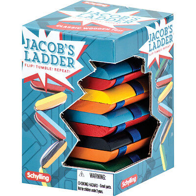 JACOBS LADDER Wooden Fidget Visual Stimulation Travel Toy Special Needs Autism (Jacob's Ladder Toy)