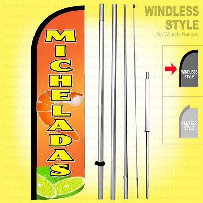 Micheladas Windless Swooper Flag Kit 15 Feather Banner Sign Yq-h