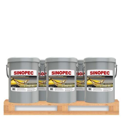 SINOPEC AW 46 HYDRAULIC OIL FLUID (ISO VG 46, SAE 15) - (12) 5 GALLON PAILS