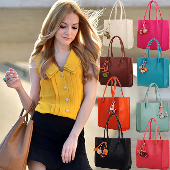 Bag - Fashion Women Handbag Shoulder Bag Leather Messenger Bag Satchel Purse Tote