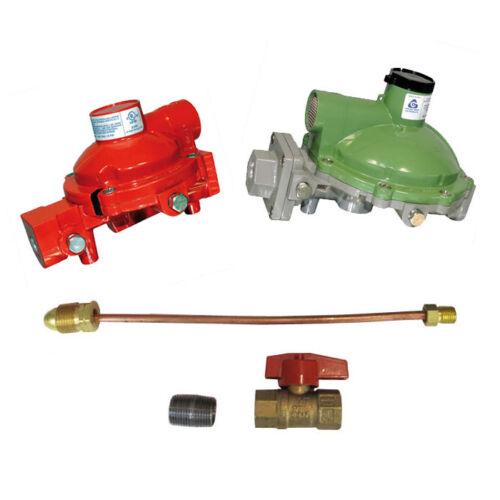 "Cavagna Kosan Regulator Home Propane Supply Kit 984HP-04 998LP-03 3/4"" Backmount"