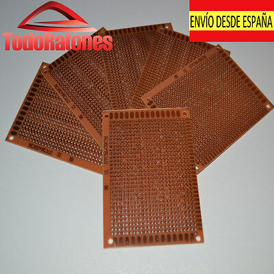 10x placa circuito impreso soldar PCB 7 x 9 cm arduino circuito...