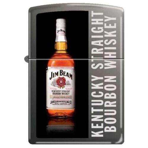 Zippo Lighter - Jim Beam Kentucky Straight Bottle Black Ice - 852900