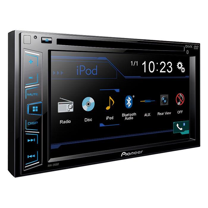 NEW Pioneer 2 Din AVH 290BT DVD/MP3/CD Player 6 2\ Bluetooth Backup Camera Ready