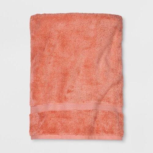 3pk OPALHOUSE Soft Solid Cotton Bath Sheet Towels | Coral |